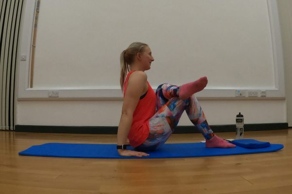 Pilates Glute Stretch