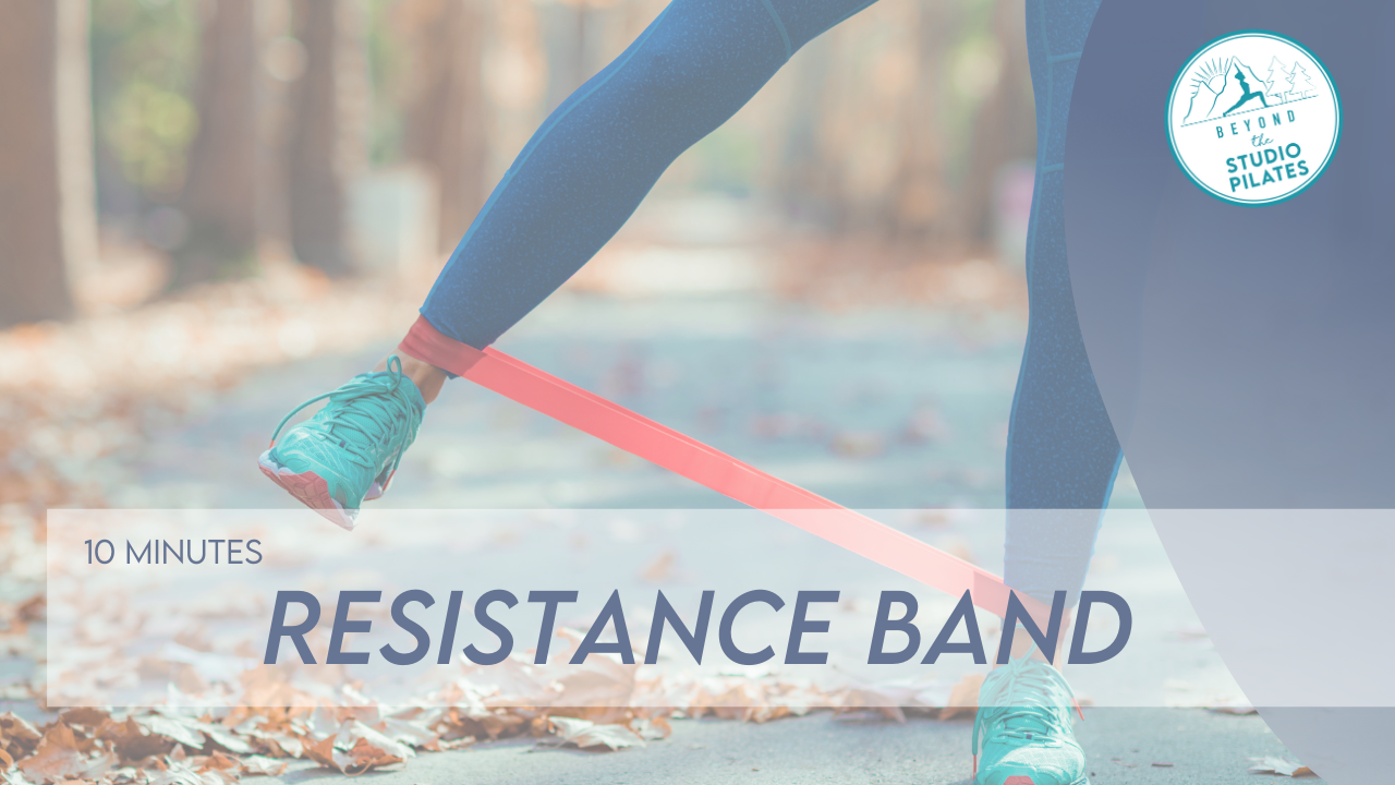 Resistance band workout for bone and muscle strength
