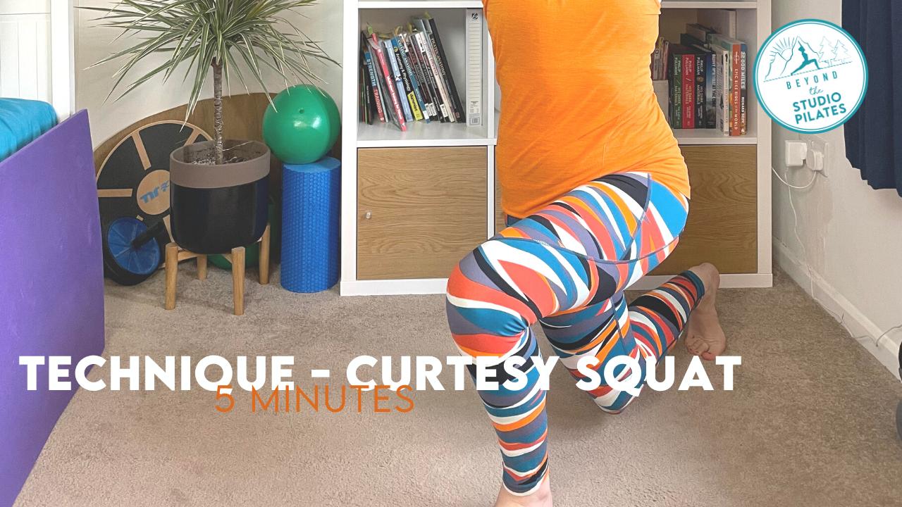 Pilates Technique – Curtesy Squat