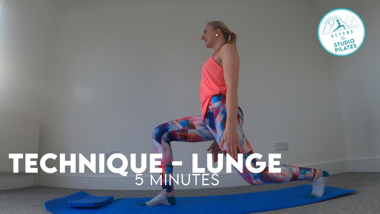 Pilates Technique – Lunges
