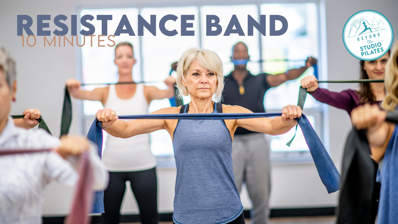 Resistance band training your whole body